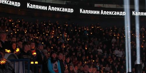 6000 свечей в память о команде