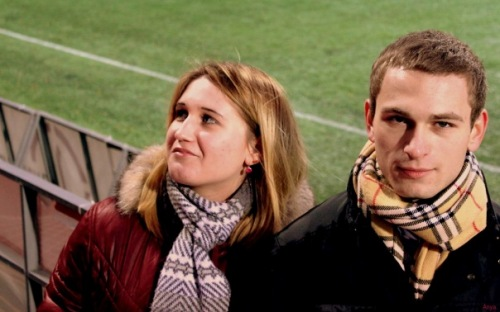 Я и Олег,на игре молодёжки Локомотив-Анжи.
