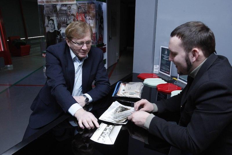 Михаил Чесноков в музее «Локомотива»