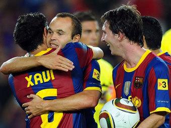 Хави, Андрес Иньеста и Лионель Месси (слева направо) - претенденты на